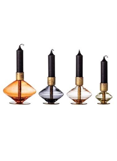 Warm Design 4'Lü Cam Şamdanlar Renkli